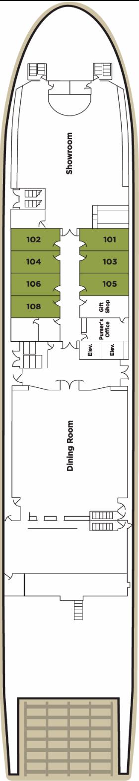 American Empress Deck Plans