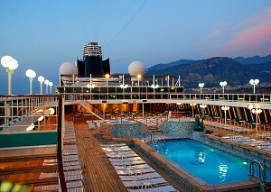 Crystal Serenity at Sunset