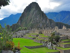 Huayna Picchu Mountain and Machu Picchu