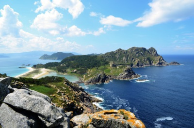 Îles Cies, en Espagne